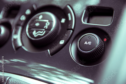 Photo Air conditioning panel in a modern car