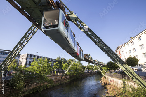 schwebebahn train wuppertal germany speeding