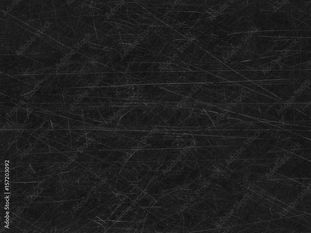 Fototapety, obrazy: Black old scratched surface background
