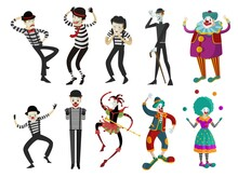 Clowns Mimes And Harlequin
