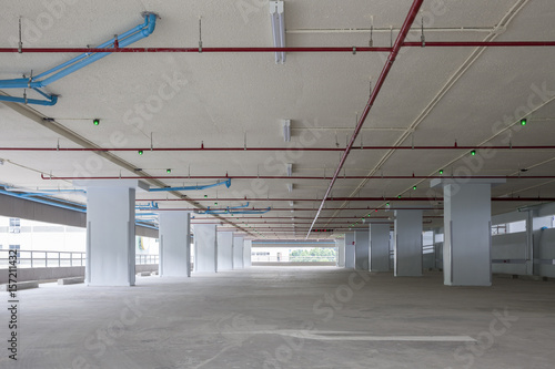 Fototapety, obrazy: Parking garage interior, industrial building,empty space car park interior.