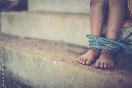 Leinwand Poster Human trafficking ,Stop abusing violence,human trafficking