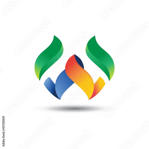 W Logo - Abstract Letter W 3D Logo - Buy this stock vector and ...