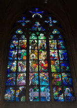 Alphonse Mucha Stained Glass In St. Vitus Cathedral, Prague