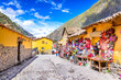 Leinwanddruck Bild - Ollantaytambo, Cusco, Peru