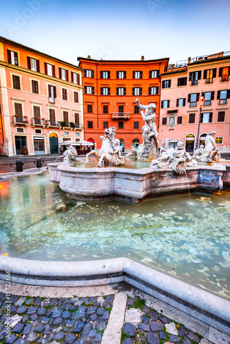 Staande foto Rome Rome, Italy - Piazza Navona and Neptune Fountain