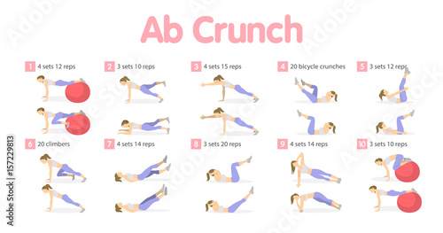 Fotomural  Abs workout set.