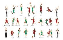 Basketball Players Set.