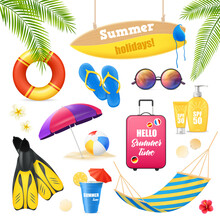 Beach Vacation Realistic Items...
