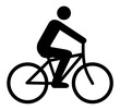 Piktogramm Radfahrer