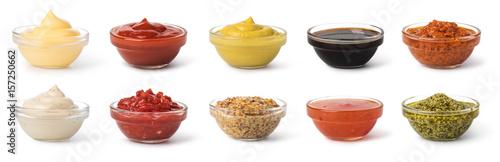 Fototapeta Bowl with sauce set obraz