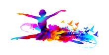 Colorful Ballet Dancer Digital...