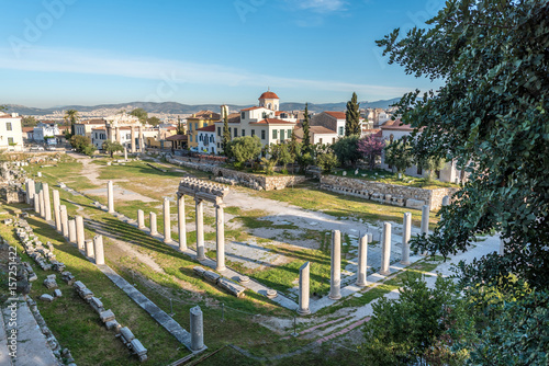 Photo Remains of the Roman Agora in Athens, Greece