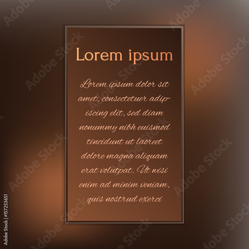 gorgeous dark chocolate design templates for your invitation