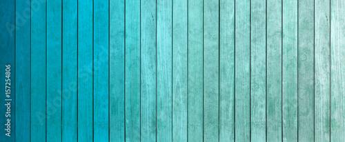 Fotografie, Obraz  lamelles de bois dégradés de teintes bleu
