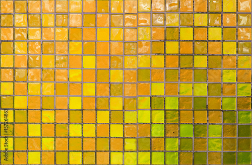 wall and floor mosaic tiles in azure yellow