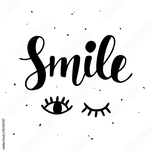 Staande foto Positive Typography Smile Inspirational poster