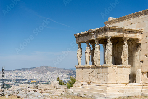 Foto op Canvas Athene Caryatides, Erechtheion temple Acropolis in Athens, Greece