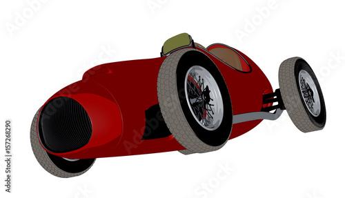 Poster Cars Racing car sketch.3D render