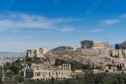 Plakat Świątynia Partenon. Akropol w Atenach, Grecja