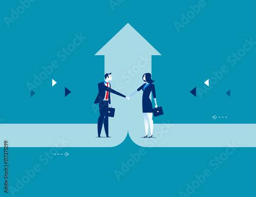 Fotografía  Business deal. Concept business success vector illustration.