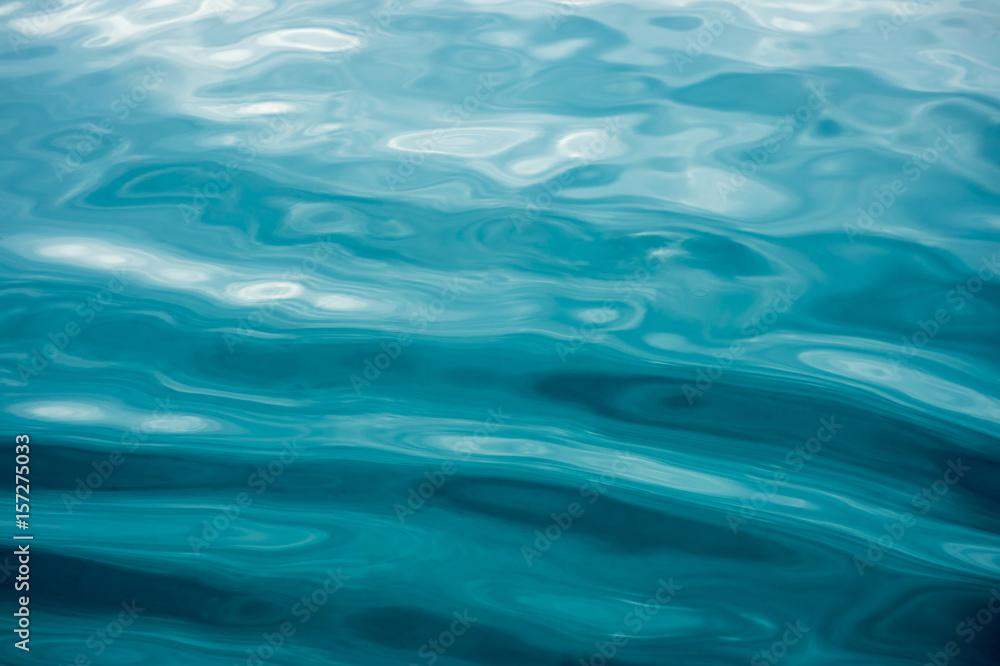 Fototapeta Rippled blue water surface