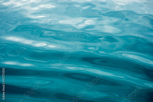 Rippled blue water surface