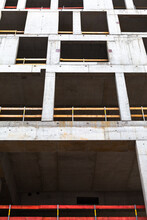 Upward View Of An Unfinished Concrete Facade