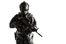 Army Soldier In Protective Com...