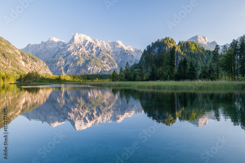 Photo The Almsee lake in the austrian apls