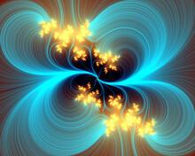 Sparkling Blue Fractal Design ...