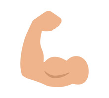 Flexing Bicep Muscle Strength ...