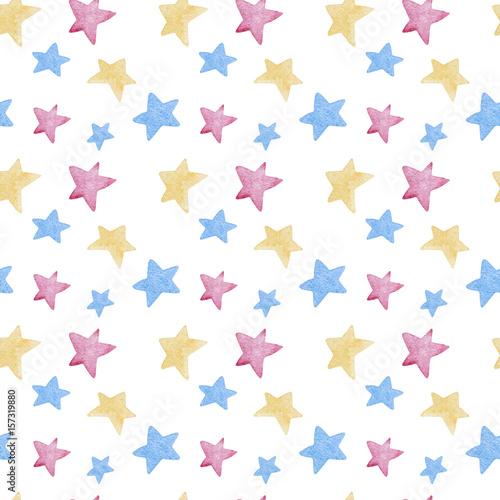 biale-tlo-w-gwiazdki-w-trzech-kolorach
