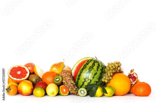 Fruits isolated on white background. © BestForYou