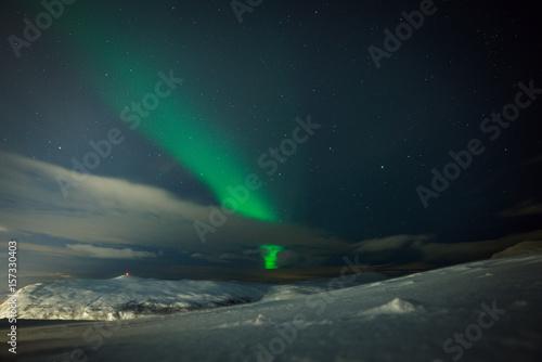 Poster Aurore polaire Aurora activity over Tromso