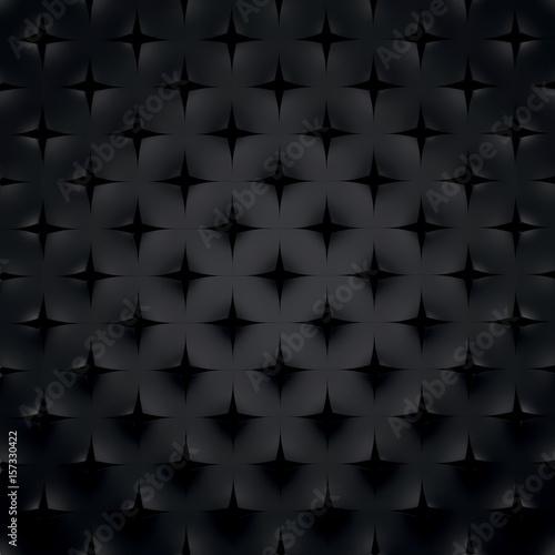 Fototapeta czarny trójwymiarowy wzór