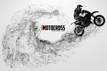 Motocross Drivers Silhouette. ...