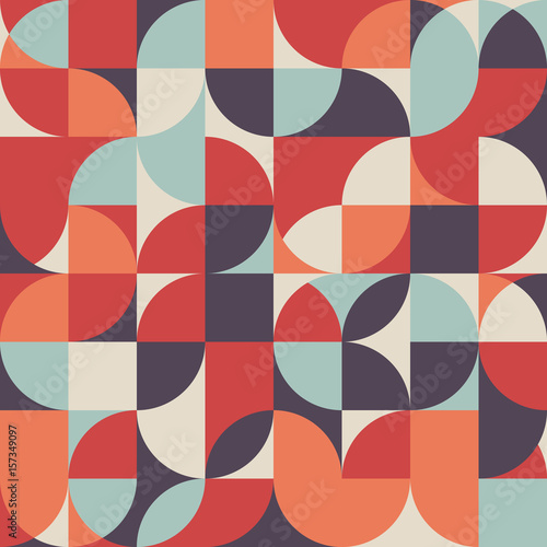 Abstract retro vintage geometric shape pattern background Canvas Print