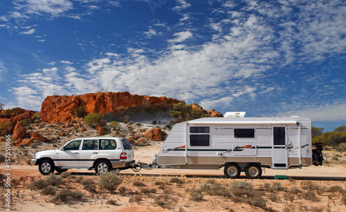 Poster Camping Outback Touring in Australia