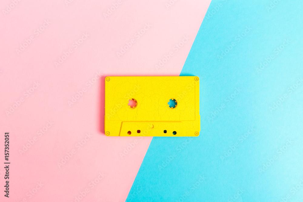 Fototapety, obrazy: Retro cassette tapes on bright background