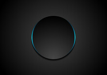 Black Circle Abstract Tech Bac...