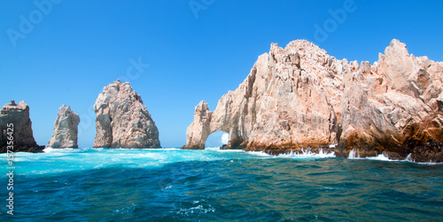 Tuinposter Mexico El Arco (the Arch) at Lands End at Cabo San Lucas Baja Mexico BCS