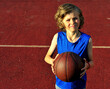 Young basketball player on the court