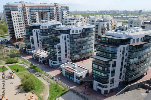 Fototapety, obrazy: new elite residential complex in Saint Petersburg, Russia