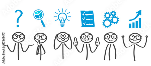 Valokuva Decision problem, solving process, generator ideas, succeed