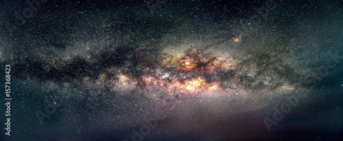 Fotografie, Obraz Galaxy Milky way panorama view in sky, night view black hole in universe