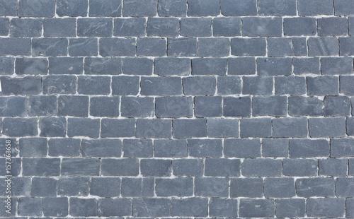 Cobblestone pavement, top view Canvas Print