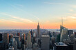 View from Top of the Rock during the sunset