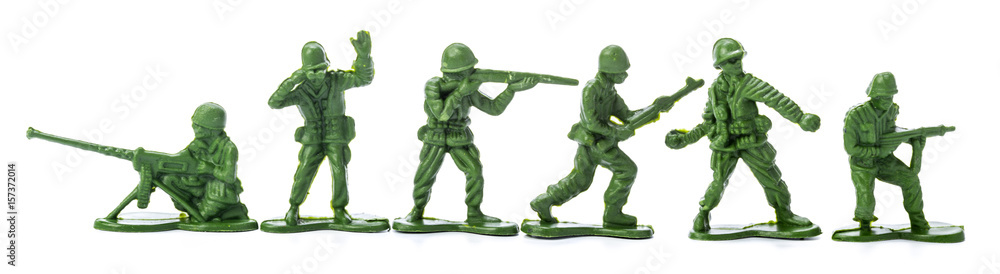 Fototapety, obrazy: Collection of traditional toy soldiers