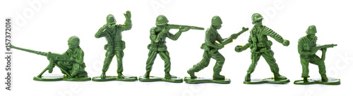 Fotografia, Obraz Collection of traditional toy soldiers